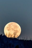 Super Moon setting over Yellowstone